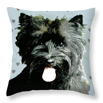 Cairn Terrier Throw Pillow by One Rude Dawg Orcutt