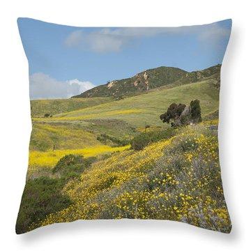 California Hillside View I Throw Pillow by Kathleen Grace