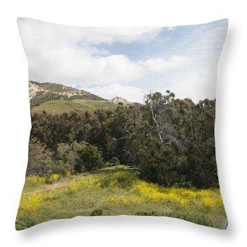 California Hillside View IIi Throw Pillow by Kathleen Grace