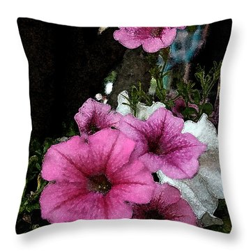 California Petunias Throw Pillow