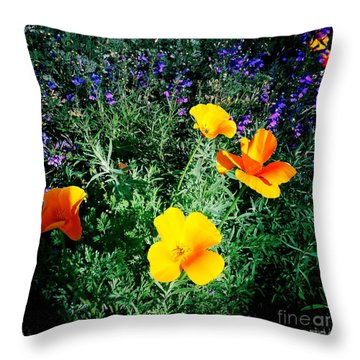 Throw Pillow featuring the photograph California Poppy by Nina Prommer