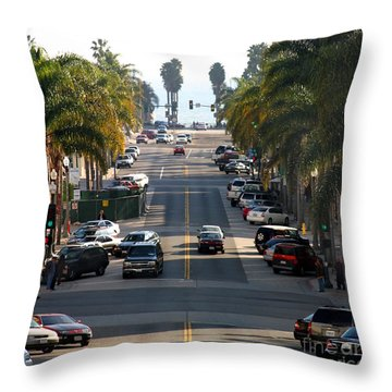 California Street Throw Pillow by Henrik Lehnerer