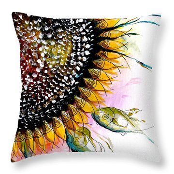 California Sunflower Throw Pillow