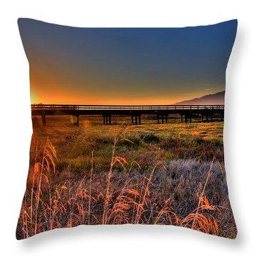 Throw Pillow featuring the photograph California Sunset by Marta Cavazos-Hernandez