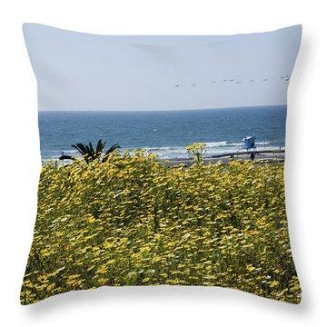 California Wildflowers Throw Pillow by Daniel  Knighton