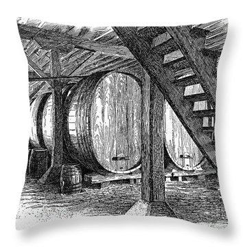 California: Winery, C1890 Throw Pillow by Granger