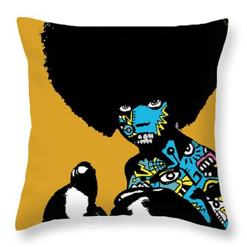 Call Of The Child Full Color Throw Pillow by Kamoni Khem