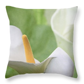 Calla Lilies Throw Pillow by Alyce Taylor