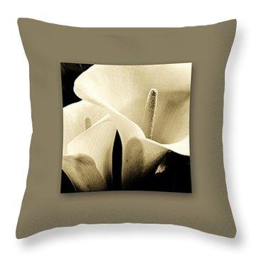 Calla Lilies Art Throw Pillow