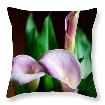 Throw Pillow featuring the photograph Calla Lily by Barbara McMahon