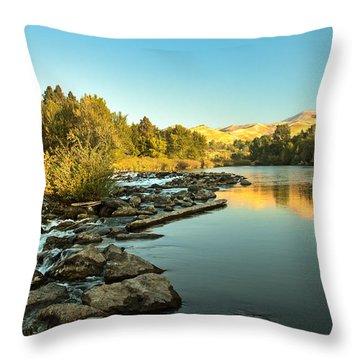 Calm Payette Throw Pillow by Robert Bales