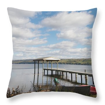 Throw Pillow featuring the photograph Calm Waters by William Norton