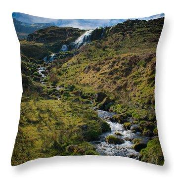 Calmness At The Falls Throw Pillow