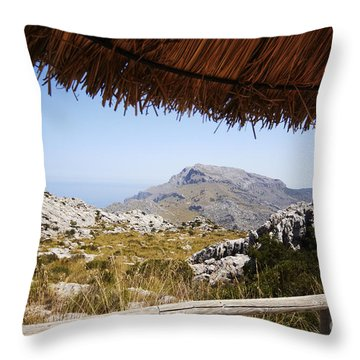 Calobras Road Throw Pillow