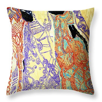 Calvary Throw Pillow by Gloria Ssali