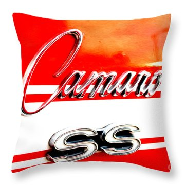 Throw Pillow featuring the digital art Camaro Ss Flank by Tony Cooper
