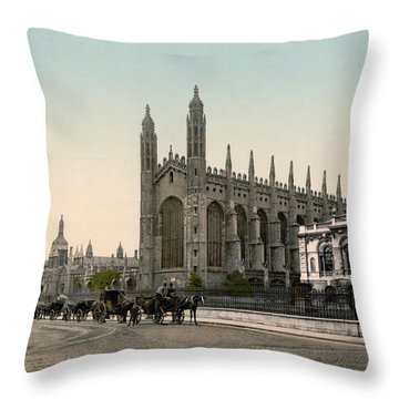 Cambridge - England - Kings College Throw Pillow by International  Images
