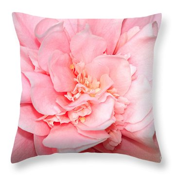 Camellia Throw Pillow by Louise Heusinkveld