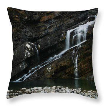 Cameron Falls Waterton Lakes National Park Throw Pillow