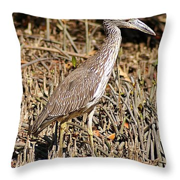 Camoflage Throw Pillow by Joe Faherty