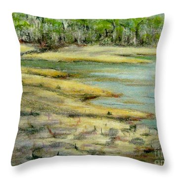 Camp Giddeon's Cove Throw Pillow by Gretchen Allen