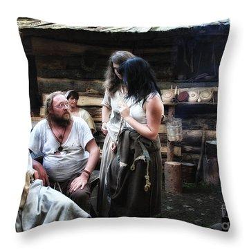 Camp Life Throw Pillow by Jutta Maria Pusl