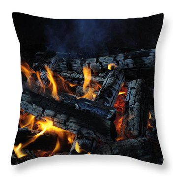 Throw Pillow featuring the photograph Campfire by Fran Riley