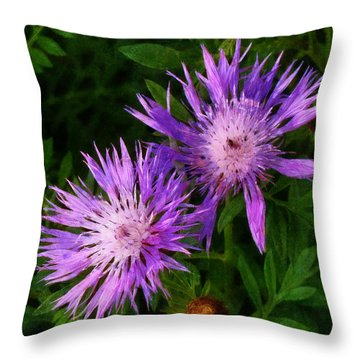 Throw Pillow featuring the photograph Can Flowers Say Boo by Steve Taylor