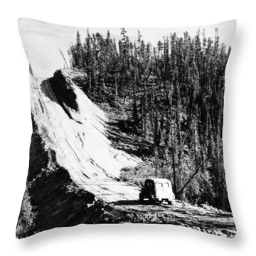 Canada: Alaska Highway Throw Pillow by Granger