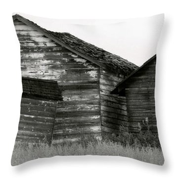 Throw Pillow featuring the photograph Canadian Barns by Jerry Fornarotto