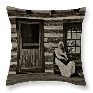 Canadian Gothic Sepia Throw Pillow by Steve Harrington