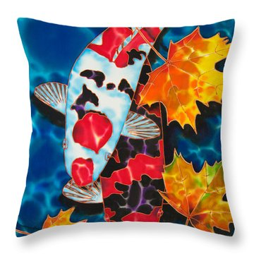Canadian Koi Throw Pillow by Daniel Jean-Baptiste