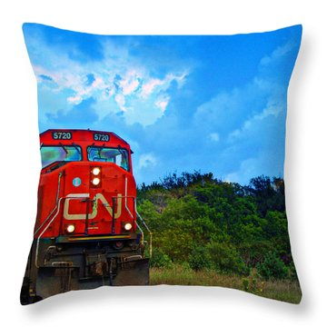 Canadian Northern Railway Train Throw Pillow