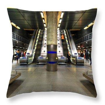 Canary Wharf Station Throw Pillow by Svetlana Sewell