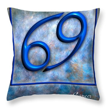 Cancer  Throw Pillow by Mauro Celotti