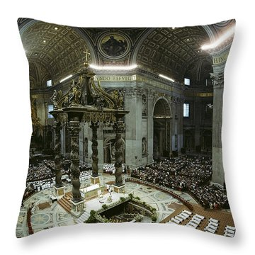Candidates For Priesthood Lie Prostrate Throw Pillow by James L. Stanfield