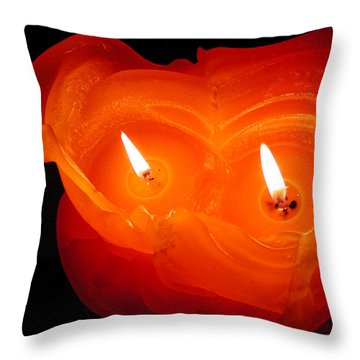 Throw Pillow featuring the photograph Candle Photo by Colette V Hera  Guggenheim