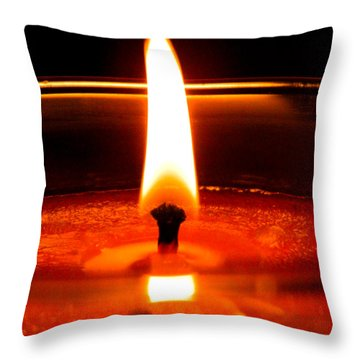 Throw Pillow featuring the photograph Candlelight by Ester  Rogers