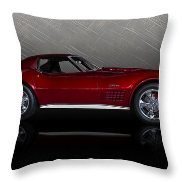 Candy Apple Corvette Throw Pillow