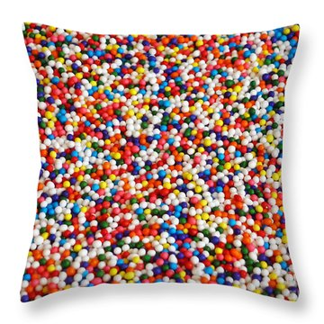 Candy Balls Throw Pillow by Methune Hively