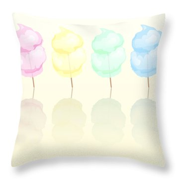Candy Floss Throw Pillow by Jane Rix