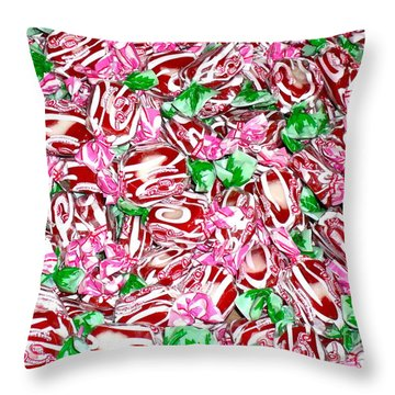 Candy Is Dandy Throw Pillow by Beth Saffer