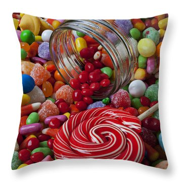 Candy Jar Throw Pillows