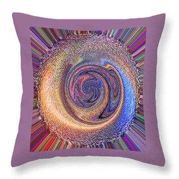 Candy Stripe Planet Throw Pillow by Richard James Digance