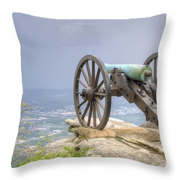 Cannon 2 Throw Pillow by David Troxel