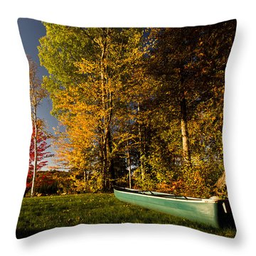 Canoe Throw Pillow by Cale Best