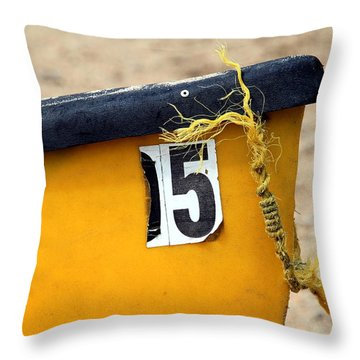 Canoe Details Throw Pillow by Valentino Visentini