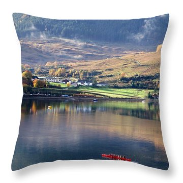 Throw Pillow featuring the photograph Canoeing On Loch Goil by Lynn Bolt