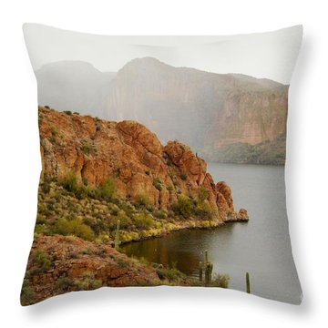 Throw Pillow featuring the photograph Canyon Lake by Tam Ryan