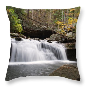Canyon Waterfall Throw Pillow